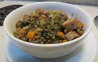 Lentil Stew with Chicken Sausage 007